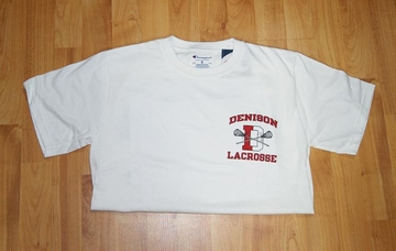 Denison Lacrosse Tee Short Sleeve White