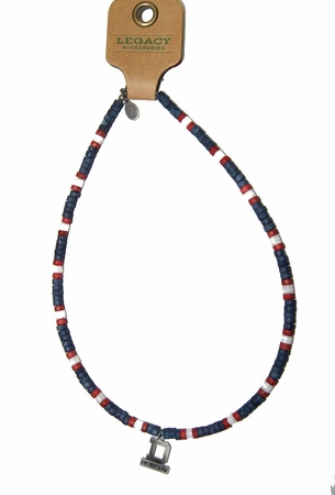 Denison Large Necklace Blue