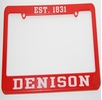 Denison License Plate Holder Red
