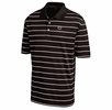 Denison Mens Scoring Stripe Polo Black