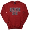 Denison Mom Comfort Fleece Crew Red