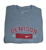 Denison Nike Granville Ohio Crew Heather Grey Small