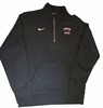 Denison Nike Mens Stadium 1/4 Zip Fleece Black
