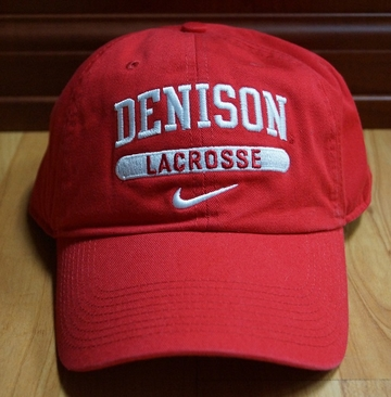Denison Nike Sports Hat Lacrosse Red
