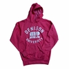 Denison Retro Heathered Hoodie Classic Red