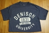 Denison Retro Heathered Tees Navy
