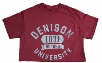 Denison Retro Heathered Tees Red