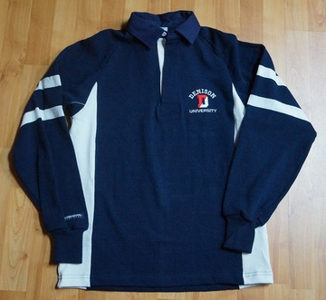 Denison Rugby Long Sleeve Navy/ White