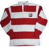 Denison Rugby Wear Long Sleeve Polo White/ Red