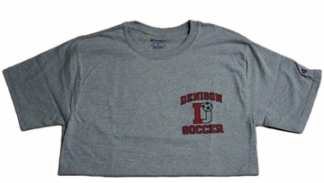 Denison Soccer Tee Grey