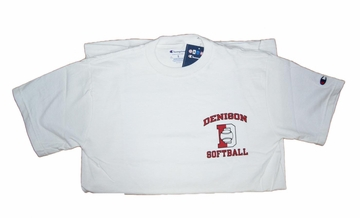 Denison Softball Tee White