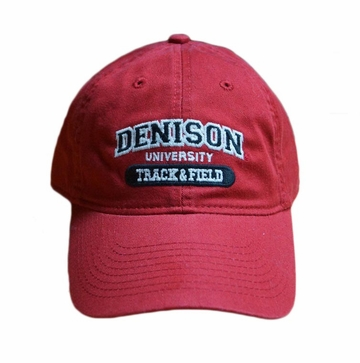 Denison Sports Hat Track & Field Red