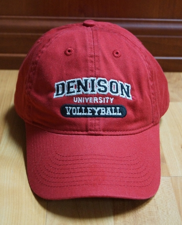 Denison Sports Hat Volleyball Red