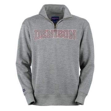 Denison 1/4 Zip Sweatshirt Grey