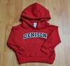 Denison Toddler Embroidered Hoodie Red