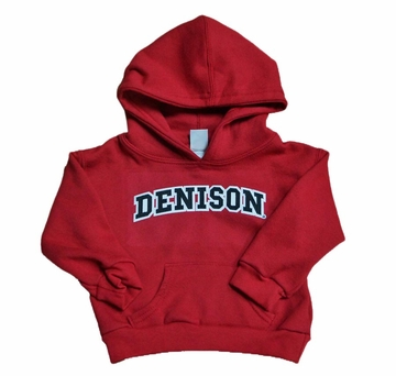 Denison Toddler Red Embroidered Hoodie Red