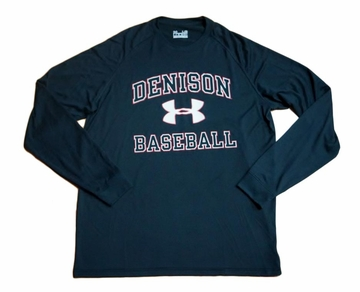 Denison Under Armour Baseball Long Sleeve Black