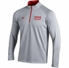 Denison Under Armour Charged Cotton 1/4 Zip True Grey Heather/ Flawless