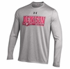 Denison Under Armour LS Tech Tee Lacrosse True Gray Heather