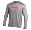Denison Under Armour Tech Long Sleeve Lacrosse Tee True Gray Heather