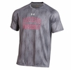 Denison Under Armour Tech Tee Novelty Chopped Blocks Steel