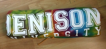 Denison University Blanket Tie Dye