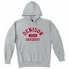 Denison University Champion Double Reverse Weave Grey Hoodie