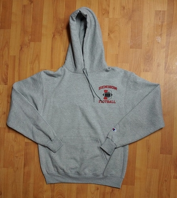 Denison University Champion Hoodie Football Grey