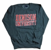 Denison University MV Printed Crew Charcoal