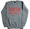 Denison University MV Printed Crew Gray