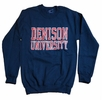 Denison University MV Printed Crew Navy