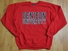 Denison University MV Printed Crew Red