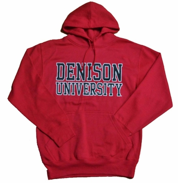 Denison University MV Printed Hoodie Red