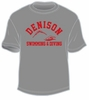 Denison University Swimming and Diving Tee Storm Grey