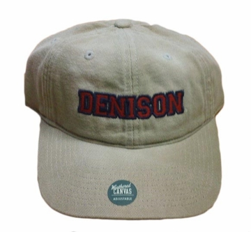 Denison University Weathered Canvas Collegiate Hat Khaki