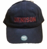 Denison University Weathered Canvas Collegiate Hat Navy