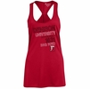 Denison University Womens Racer Back Tank Red