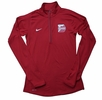 Denison Womens Nike 1/2 Zip Element Red/ White