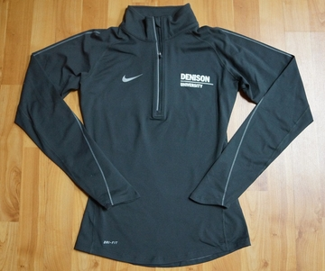 Denison Womens Nike DriFit Element 1/2 Zip Anthracite