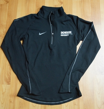 Denison Womens Nike DriFit Element 1/2 Zip Black