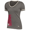 Denison Womens Under Armour Baseball Shirzee Tee Legacy Grey