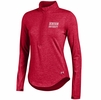 Denison Womens Under Armour Charged Cotton 1/4 Zip Red