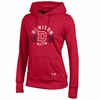 Denison Womens Under Armour French Terry Pullover Hoodie Simply Red