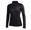 Denison Womens Under Armour Tech 1/4 Zip Techno Grid Black