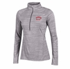 Denison Womens Under Armour Tech 1/4 Zip Techno Grid True Gray