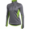 Denison Womens Under Armour Verve Fleece 1/2 Zip Hyper Green