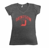 Denison Womens Vivianne V-Neck Tee Charcoal