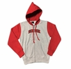 Denison Youth Contrast Hood and Sleeve Jacket Oxford/ Red