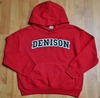 Denison Youth Embroidered Hoodie Red