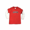 Denison Youth Layered Two-Tone Poly Tee Red